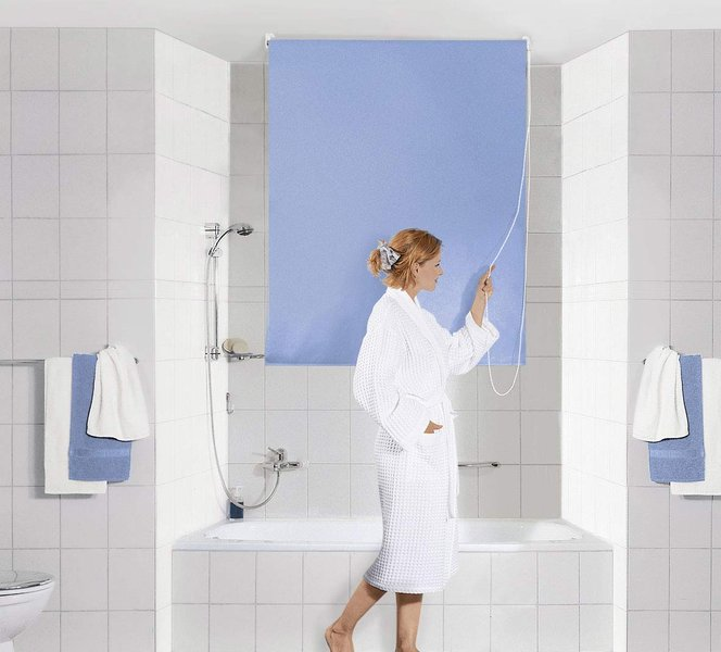 Kleine Wolke - Shower Roller Blind - clevershower