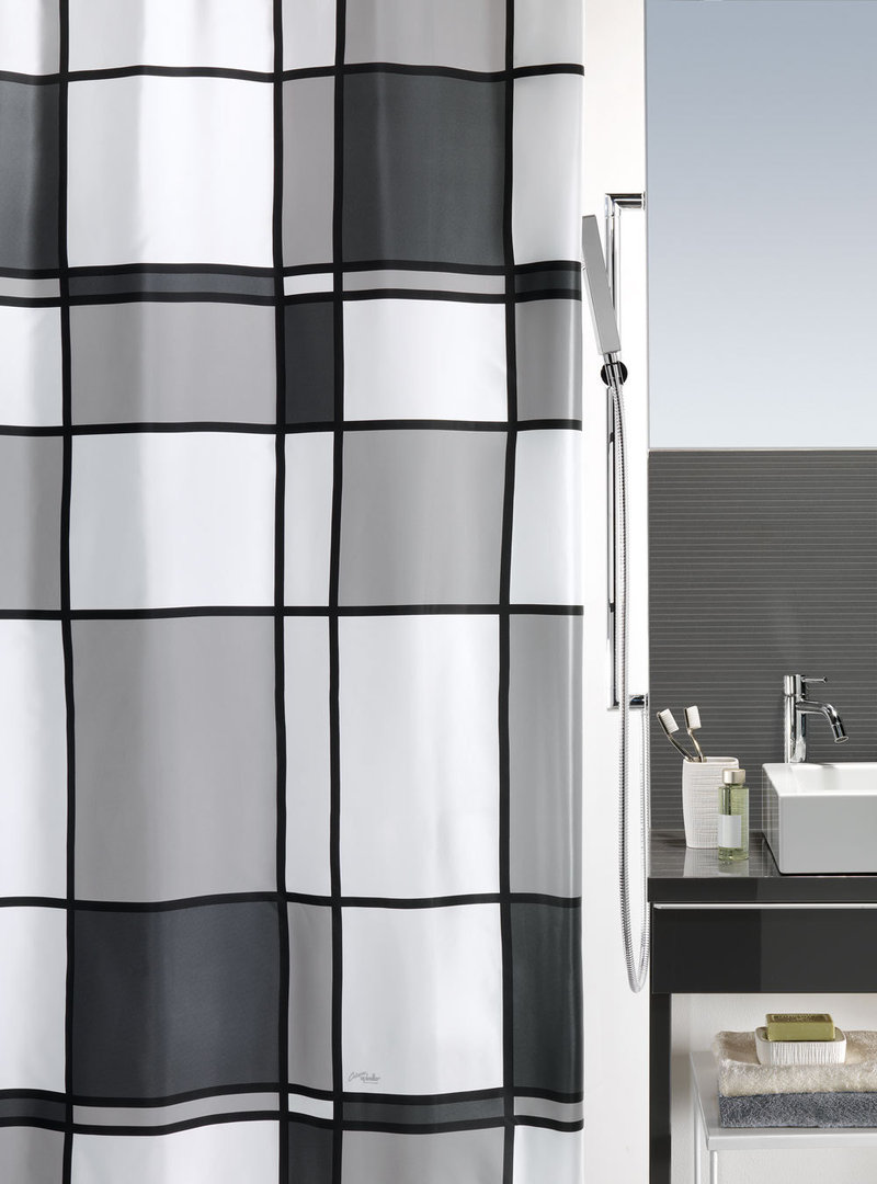 spirella - MONDY - SATIN Textile Shower Curtain - clevershower