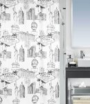 spirella - VEGAS - Textile Shower Curtain
