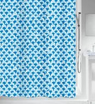 spirella - BLUEWAVE - Textile Shower Curtain